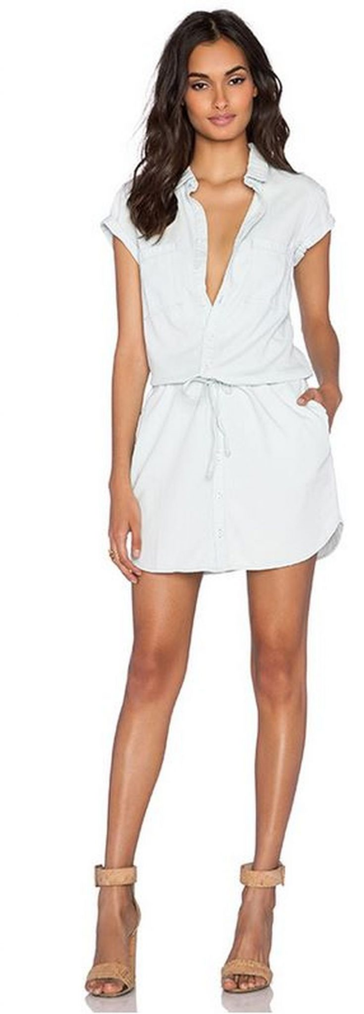 Stunning white shirtdresses outfits 5