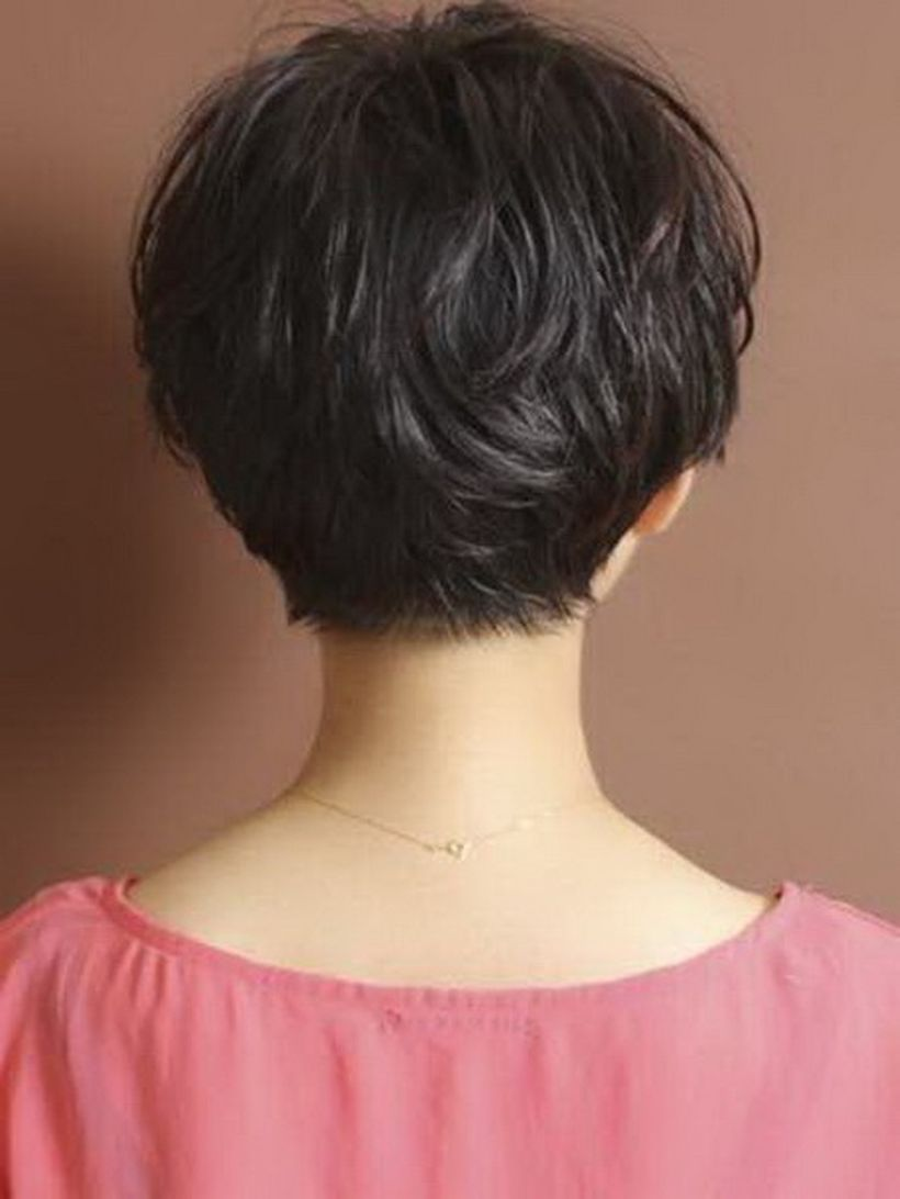 Stylist back view short pixie haircut hairstyle ideas 15
