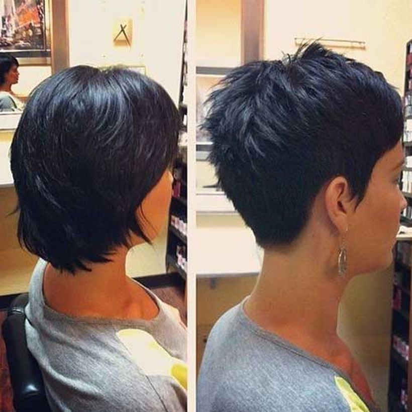 Stylist back view short pixie haircut hairstyle ideas 2