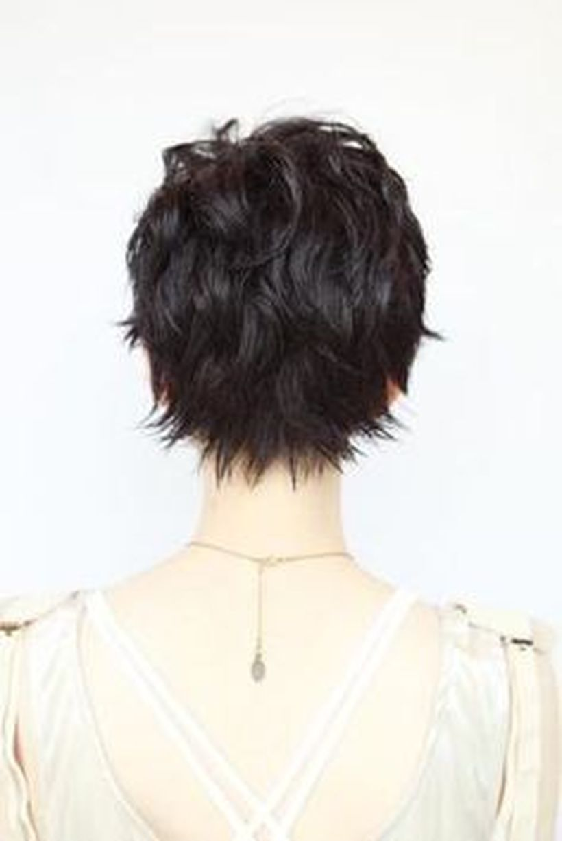 Stylist back view short pixie haircut hairstyle ideas 25