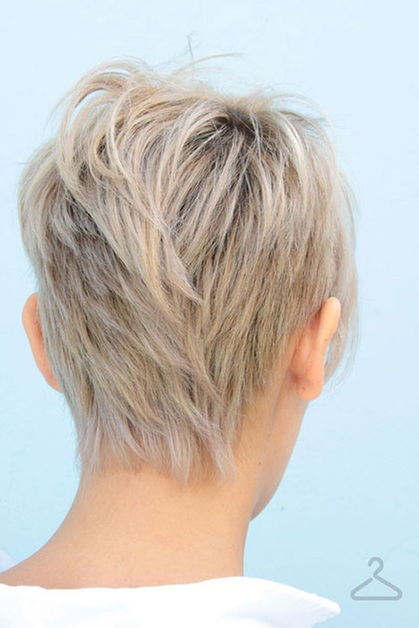 Stylist back view short pixie haircut hairstyle ideas 28
