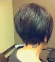 Stylist back view short pixie haircut hairstyle ideas 33