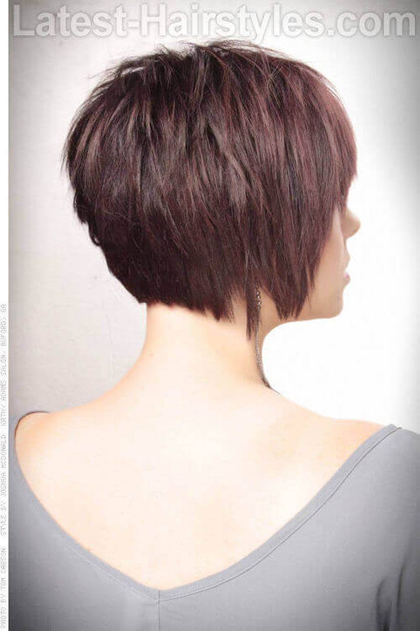 Stylist back view short pixie haircut hairstyle ideas 7
