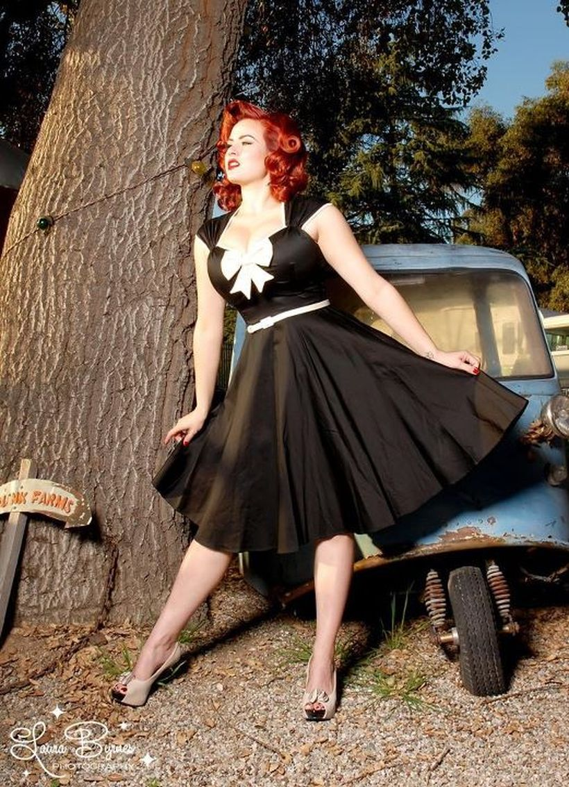 Vintage plus size rockabilly fashion style outfits ideas 102