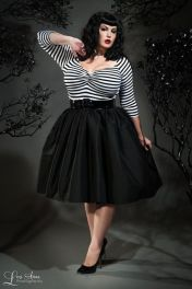 Vintage plus size rockabilly fashion style outfits ideas 13
