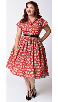 Vintage plus size rockabilly fashion style outfits ideas 14