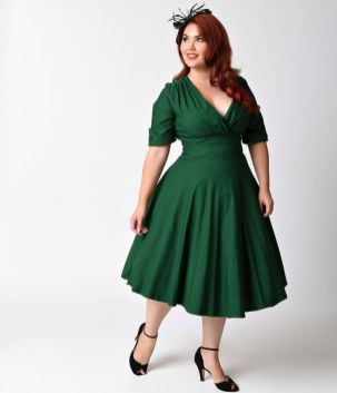 Vintage plus size rockabilly fashion style outfits ideas 15