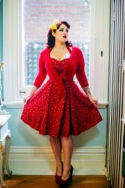 Vintage plus size rockabilly fashion style outfits ideas 17
