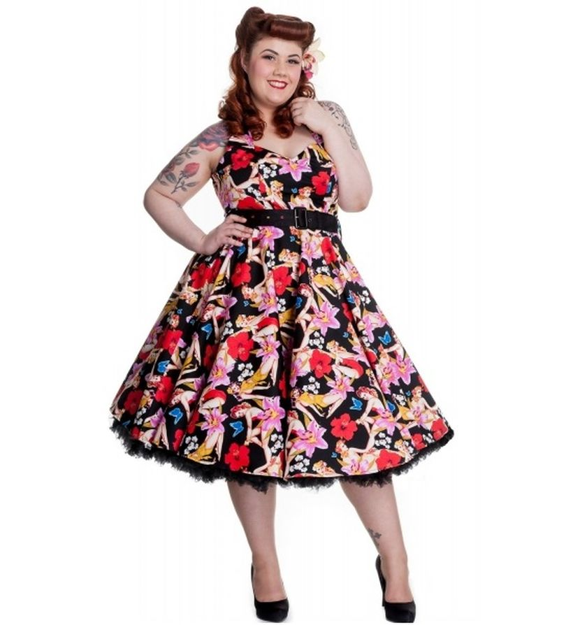 Vintage plus size rockabilly fashion style outfits ideas 19