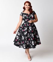 Vintage plus size rockabilly fashion style outfits ideas 27