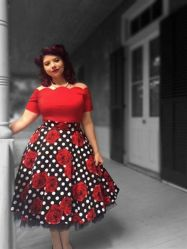 Vintage plus size rockabilly fashion style outfits ideas 28