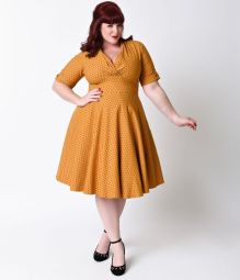 Vintage plus size rockabilly fashion style outfits ideas 40
