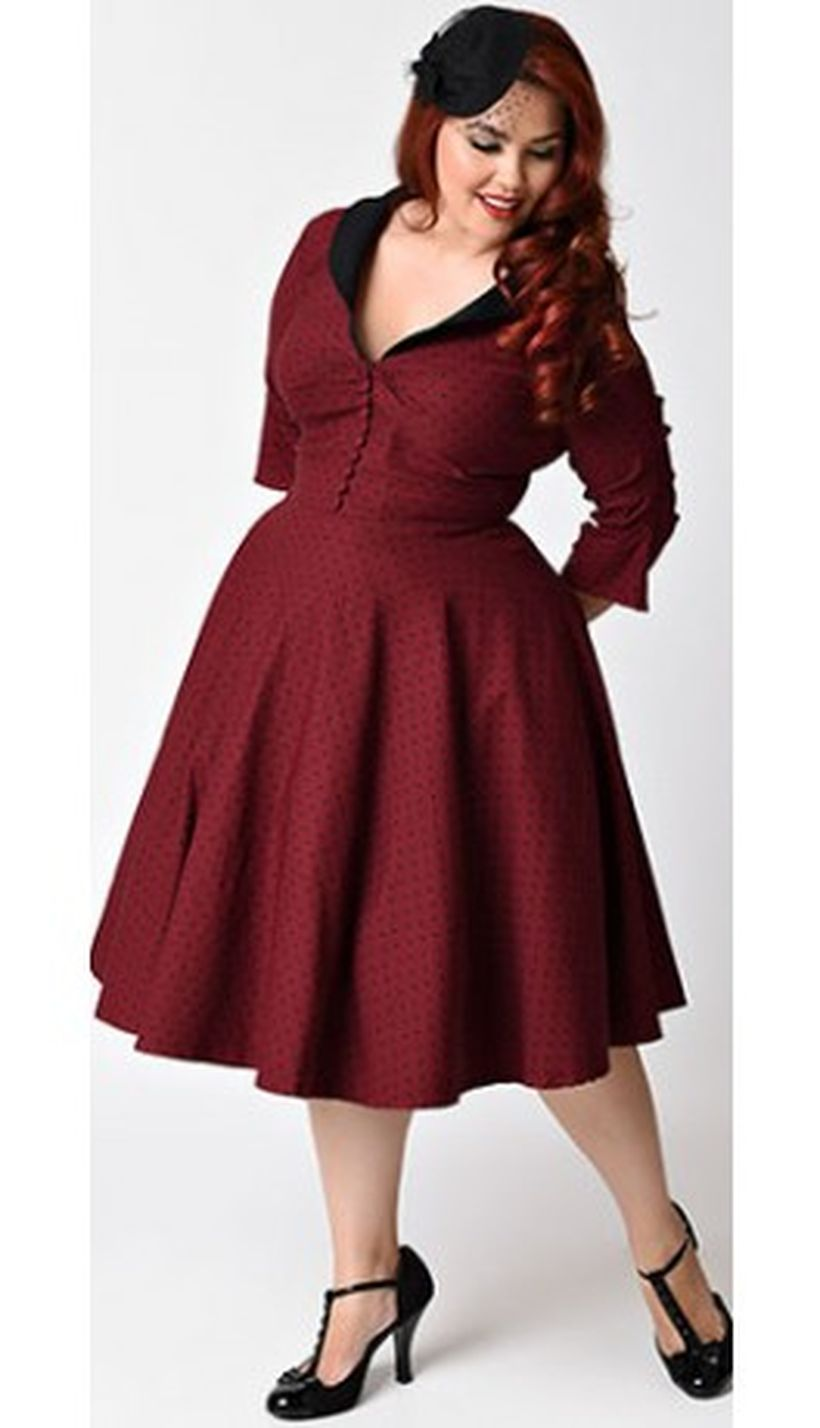 Vintage plus size rockabilly fashion style outfits ideas 58