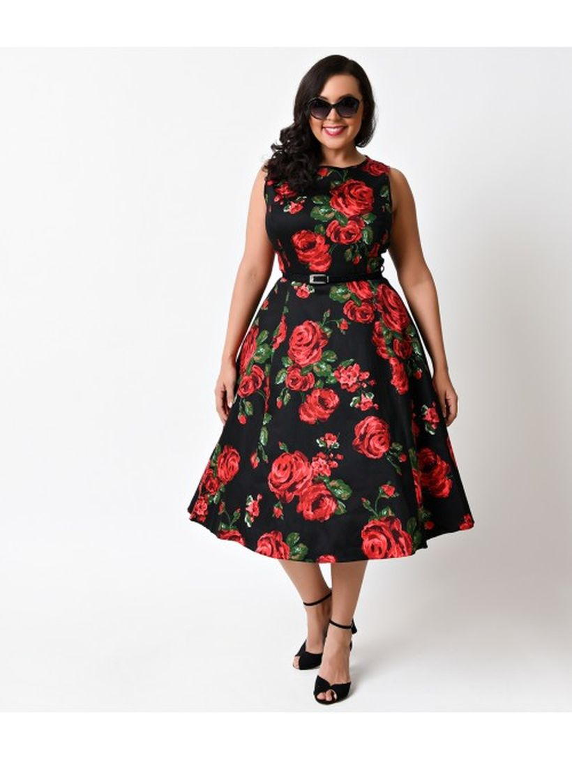 Vintage plus size rockabilly fashion style outfits ideas 60