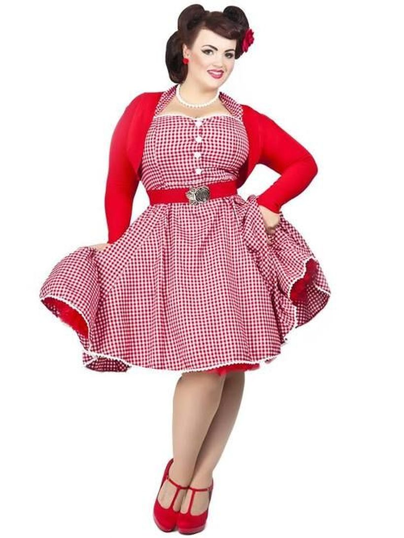 Vintage plus size rockabilly fashion style outfits ideas 63