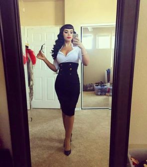 Vintage rockabilly fashion style outfits 19