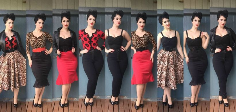 Vintage rockabilly fashion style outfits 43