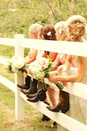 Vintage wedding outfit with country boots 44