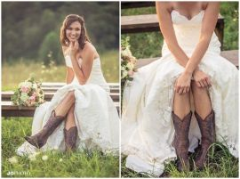 Vintage wedding outfit with country boots 67