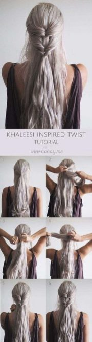 Amazing khaleesi game of thrones hairstyle ideas 1