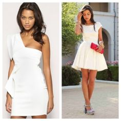 Amazing white short dresses ideas for party outfits 46