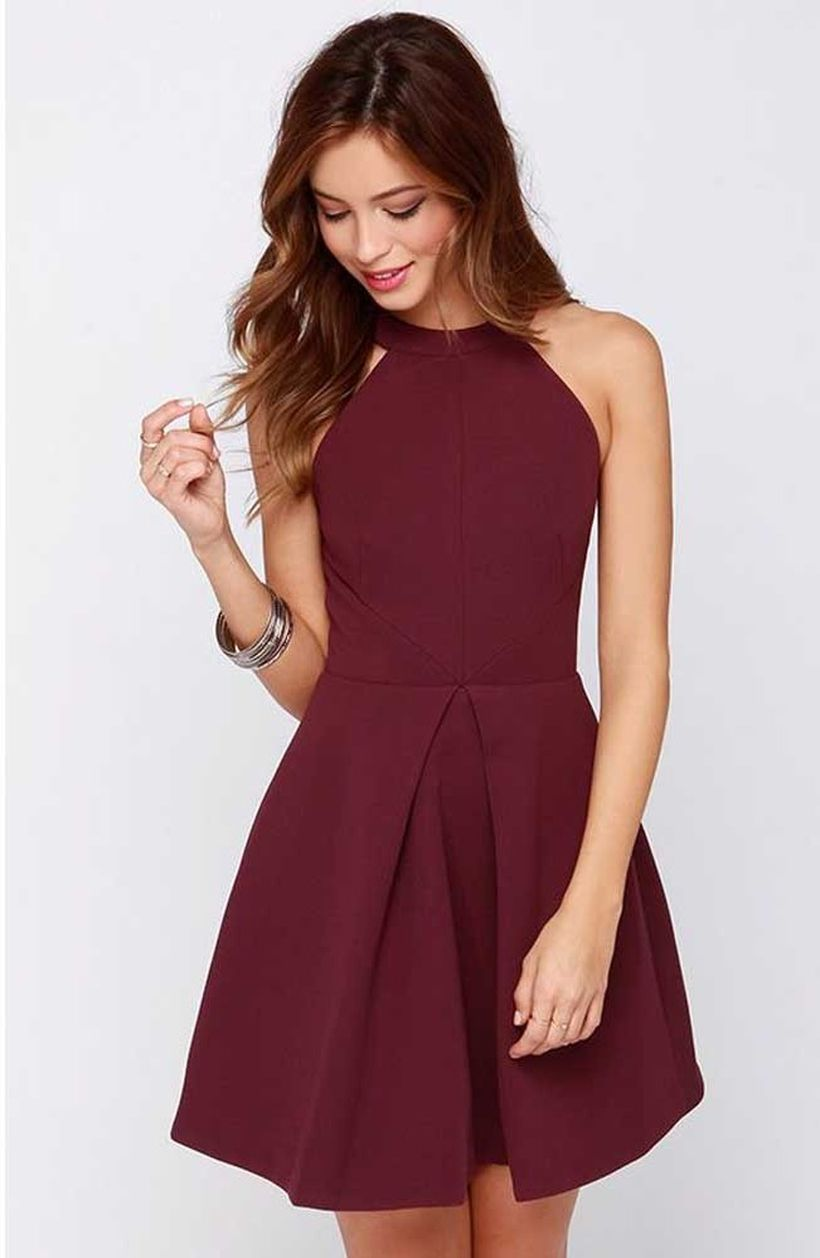 Awesome teens short dresses ideas for graduation outfits 94