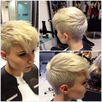 Cool short pixie blonde hairstyle ideas 81