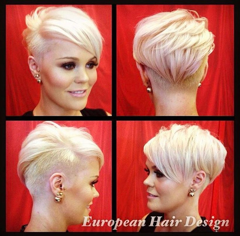 Cool short pixie blonde hairstyle ideas 86