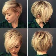 Cool short pixie blonde hairstyle ideas 96