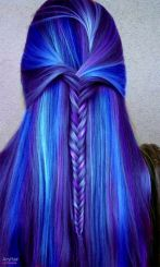 Crazy colorful hair colour ideas for long hair 100