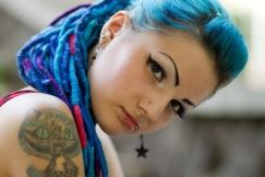 Crazy colorful hair colour ideas for long hair 107