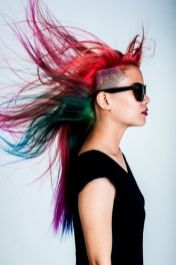 Crazy colorful hair colour ideas for long hair 112