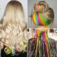 Crazy colorful hair colour ideas for long hair 130