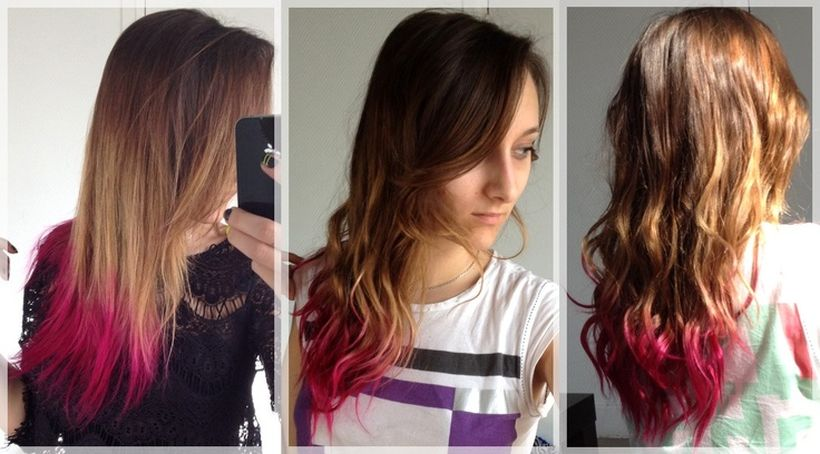 Crazy colorful hair colour ideas for long hair 134