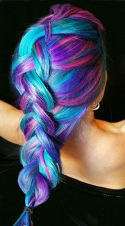 Crazy colorful hair colour ideas for long hair 148