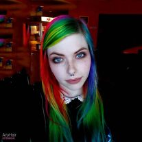 Crazy colorful hair colour ideas for long hair 157