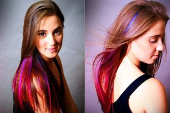 Crazy colorful hair colour ideas for long hair 158