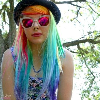 Crazy colorful hair colour ideas for long hair 159