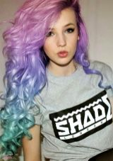 Crazy colorful hair colour ideas for long hair 164