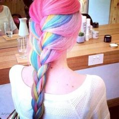 Crazy colorful hair colour ideas for long hair 165