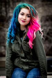 Crazy colorful hair colour ideas for long hair 175