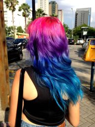 Crazy colorful hair colour ideas for long hair 177