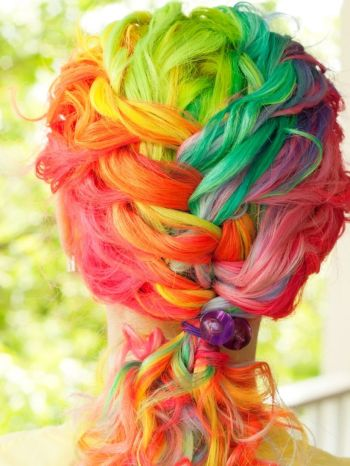 Crazy colorful hair colour ideas for long hair 190