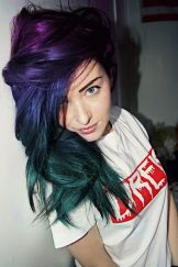 Crazy colorful hair colour ideas for long hair 199