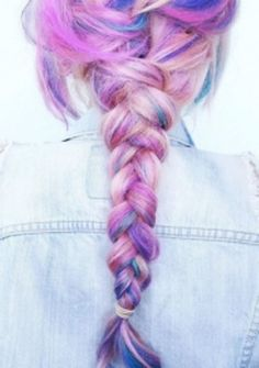 Crazy colorful hair colour ideas for long hair 203