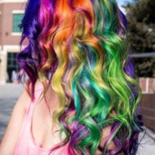 Crazy colorful hair colour ideas for long hair 207