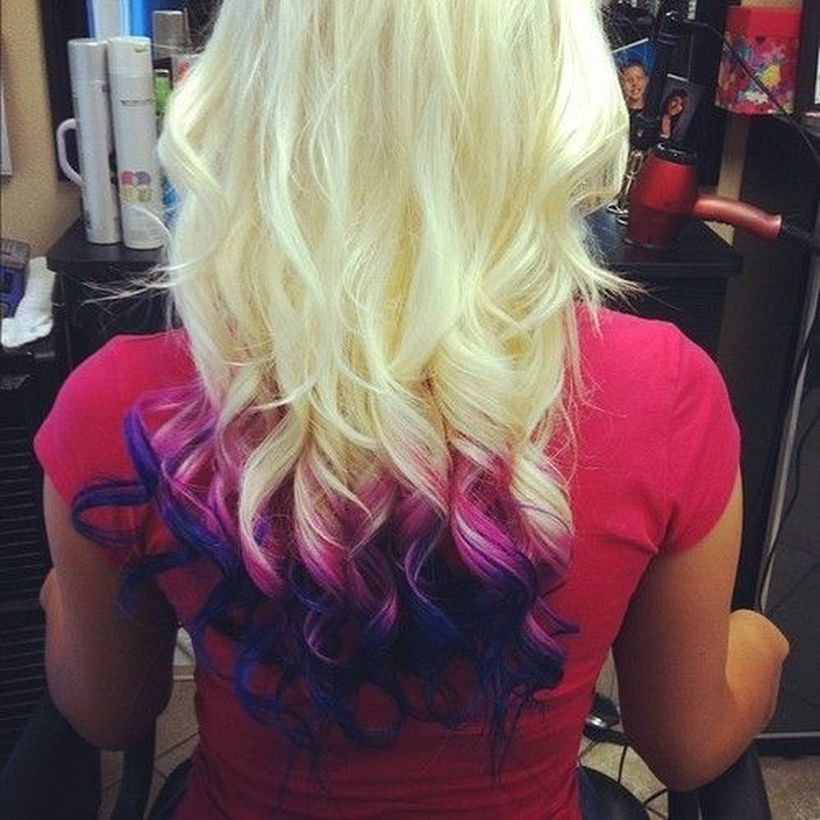 Crazy colorful hair colour ideas for long hair 208