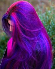 Crazy colorful hair colour ideas for long hair 218