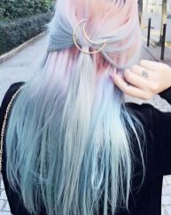 Crazy colorful hair colour ideas for long hair 24
