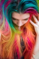 Crazy colorful hair colour ideas for long hair 25